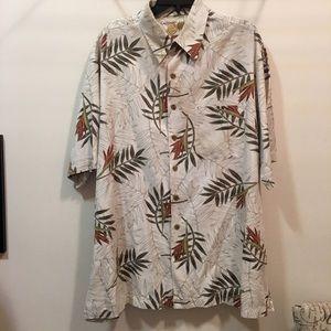 EUC silk blend Hawaiian shirt Caribbean sz XLT